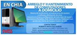 Mantenimiento de Computadores PC, Portatil, Mac. Domicilio Chía, Bogotá
