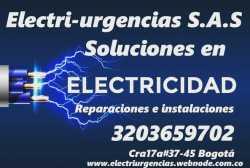 Emergencias,apagones,cortos eléctricos,urgencias,electricista,Bogotá.