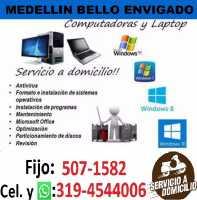Servicio técnico Reparacion Formateo computadores Bello Niquia Madera Ant. Cel:3194544006 y WhatsApp
