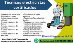 Técnicos electricistas certificados Bogotá.